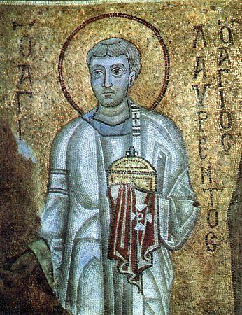 Святой мученик архидиакон Лаврентий